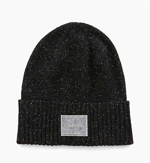 CALVINKLEIN Wool Blend Beanie - BLACK - CALVIN KLEIN MEN - main image