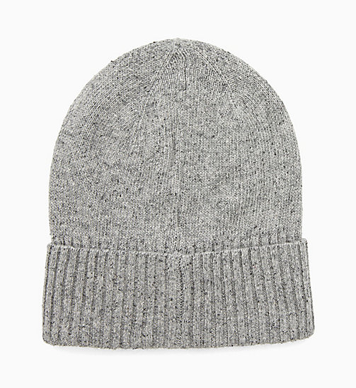 CALVIN KLEIN Wool Blend Beanie - MID GREY HEATHER B38 - VOL39 - CALVIN KLEIN HATS - detail image 1