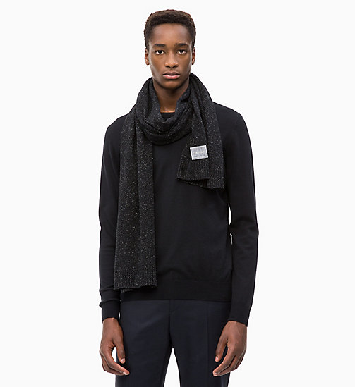 CALVINKLEIN Wool Blend Scarf - BLACK - CALVIN KLEIN MEN - detail image 1