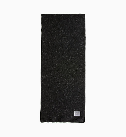 CALVINKLEIN Wool Blend Scarf - BLACK - CALVIN KLEIN MEN - main image