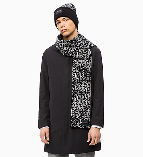 CALVINKLEIN Scarf and Beanie Gift Box - BLACK - CALVIN KLEIN SCARVES - detail image 1