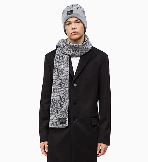 CALVINKLEIN Scarf and Beanie Gift Box - MID GREY HEATHER B38 - VOL39 - CALVIN KLEIN SCARVES - detail image 1