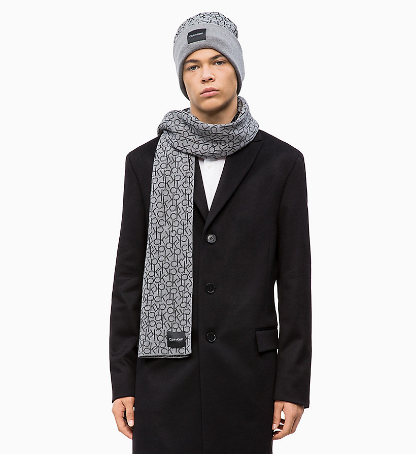 CALVIN KLEIN Scarf and Beanie Gift Box - BLACK - CALVIN KLEIN MEN - detail image 1