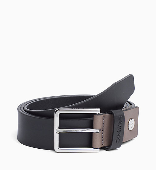 CALVIN KLEIN Leather Belt - BLACK - CALVIN KLEIN ALL GIFTS - main image