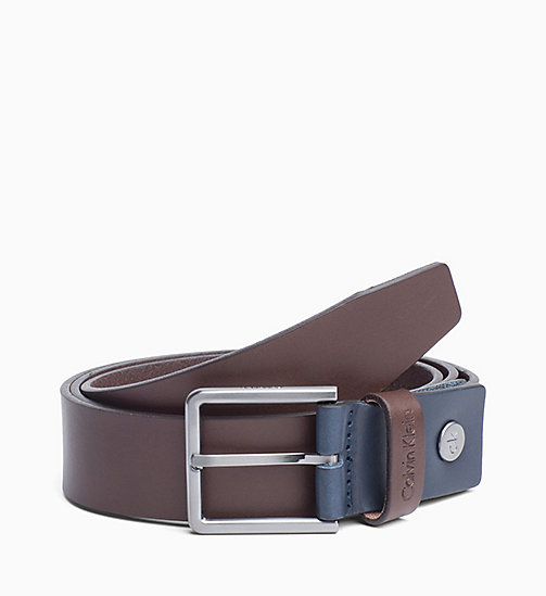 CALVINKLEIN Leather Belt - TURKISH COFFEE - CALVIN KLEIN BELTS - main image