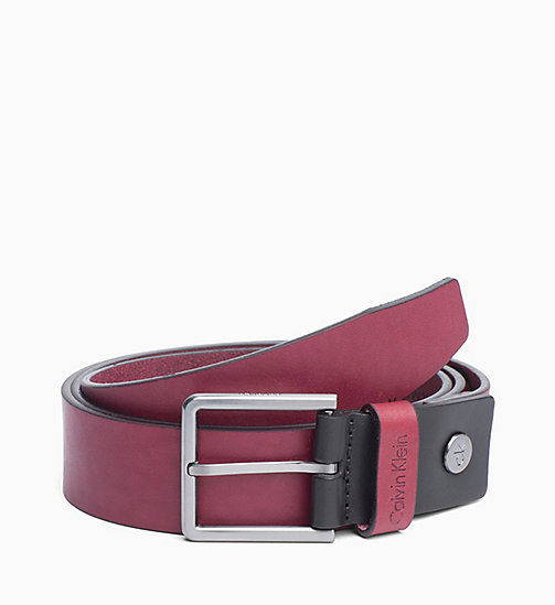 CALVIN KLEIN Leather Belt - RED ROCK - CALVIN KLEIN ALL GIFTS - main image