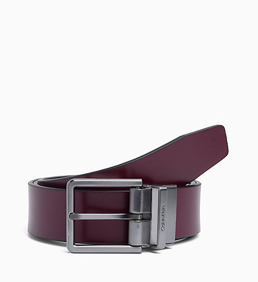 CALVINKLEIN Reversible Leather Belt - BLACK - CALVIN KLEIN BELTS - detail image 1