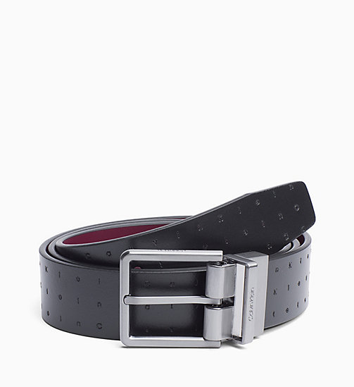 CALVIN KLEIN Reversible Leather Belt - BLACK - CALVIN KLEIN BELTS - main image