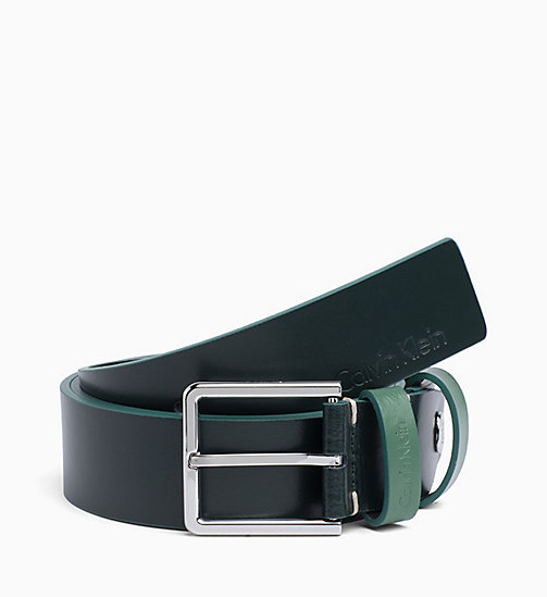 CALVINKLEIN Leather Belt - GREYSTONE - CALVIN KLEIN BELTS - main image