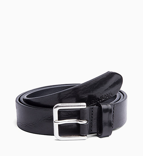 CALVIN KLEIN JEANS Leather Belt - BLACK - CALVIN KLEIN JEANS BELTS - main image