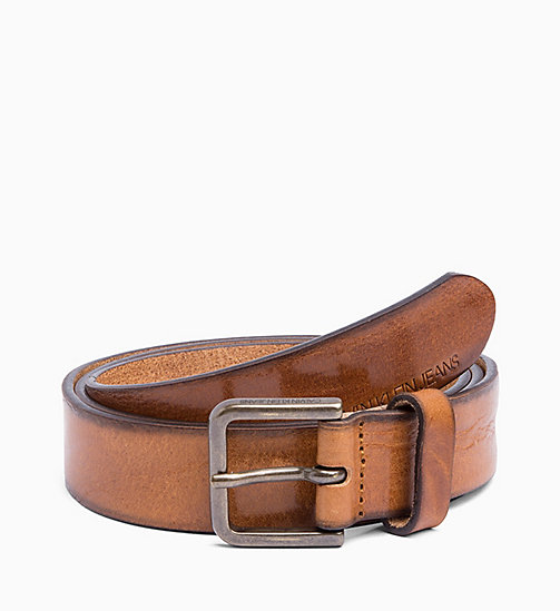 CALVIN KLEIN JEANS Leather Belt - LION - CALVIN KLEIN JEANS MEN - main image