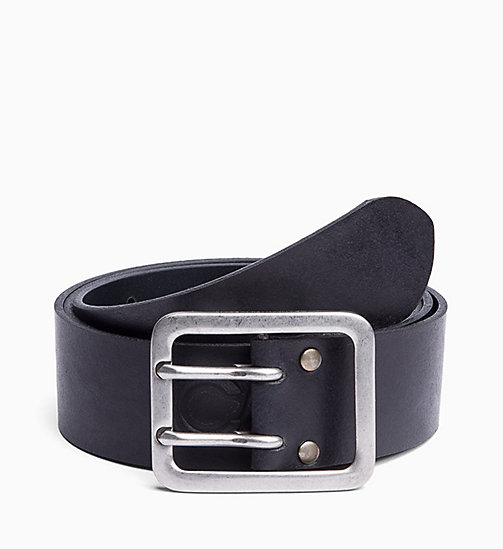 CALVIN KLEIN JEANS Leather Belt - BLACK - CALVIN KLEIN JEANS MEN - main image
