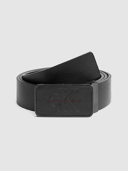 CALVIN KLEIN JEANS Monochrome Plaque Belt - BLACK -  LOGO SHOP - main image