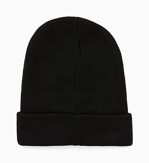 CALVIN KLEIN JEANS Wool Blend Beanie - BLACK BEAUTY - CALVIN KLEIN JEANS IN THE THICK OF IT FOR HIM - detail image 1