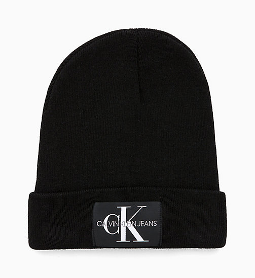 CALVIN KLEIN JEANS Wool Blend Beanie - BLACK BEAUTY - CALVIN KLEIN JEANS IN THE THICK OF IT FOR HIM - main image