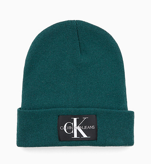 CALVIN KLEIN JEANS Wool Blend Beanie - JUNE BUG - CALVIN KLEIN JEANS NEW ICONS - main image