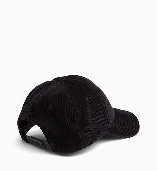 CALVIN KLEIN JEANS Corduroy Cap - BLACK BEAUTY - CALVIN KLEIN JEANS IN THE THICK OF IT FOR HIM - detail image 1
