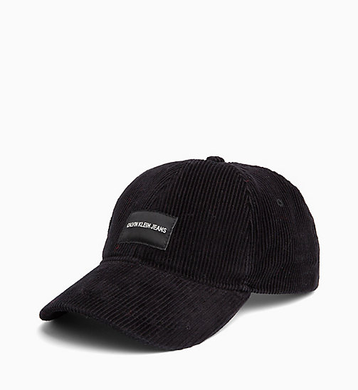 CALVIN KLEIN JEANS Corduroy Cap - BLACK BEAUTY - CALVIN KLEIN JEANS IN THE THICK OF IT FOR HIM - main image
