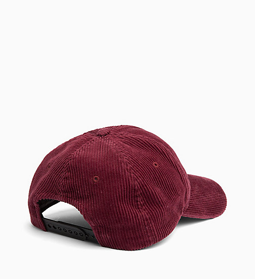 CALVIN KLEIN JEANS Corduroy Cap - TAWNY PORT - CALVIN KLEIN JEANS IN THE THICK OF IT FOR HIM - detail image 1