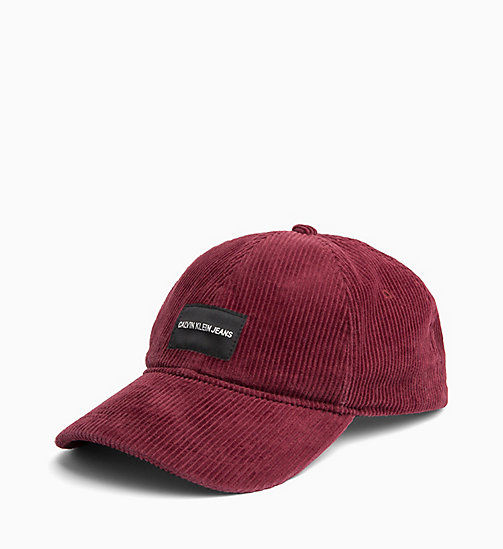 CALVIN KLEIN JEANS Corduroy Cap - TAWNY PORT - CALVIN KLEIN JEANS IN THE THICK OF IT FOR HIM - main image