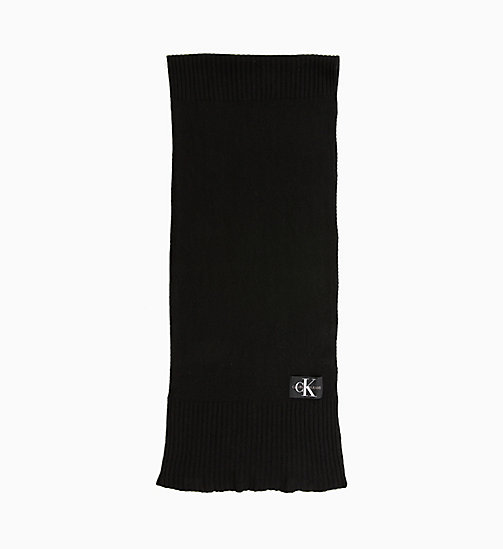 CALVIN KLEIN JEANS Wool Blend Scarf - BLACK BEAUTY - CALVIN KLEIN JEANS IN THE THICK OF IT FOR HIM - main image