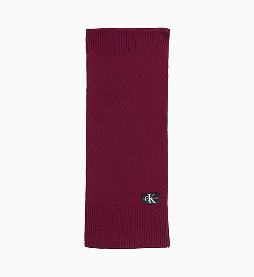 CALVIN KLEIN JEANS Wool Blend Scarf - TAWNY PORT - CALVIN KLEIN JEANS IN THE THICK OF IT FOR HIM - detail image 1