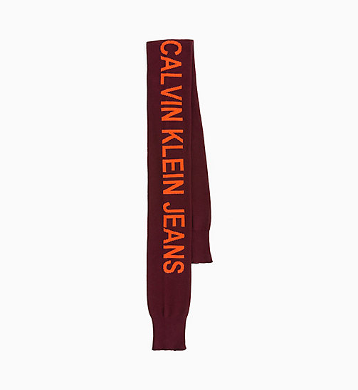 CALVIN KLEIN JEANS Cuff Scarf - TAWNY PORT - CALVIN KLEIN JEANS BOLD GRAPHICS - main image