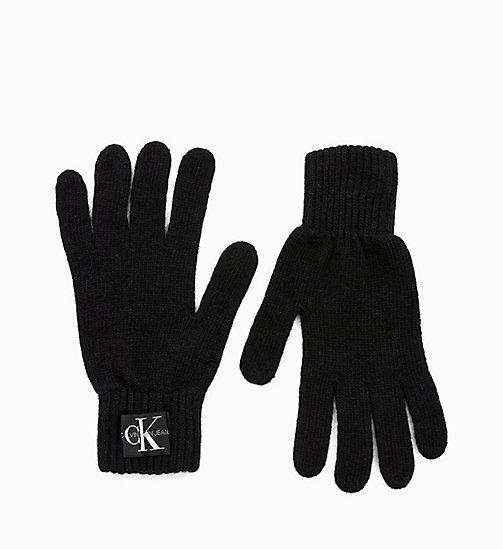 CALVIN KLEIN JEANS Wool Blend Gloves - BLACK BEAUTY - CALVIN KLEIN JEANS GLOVES - main image