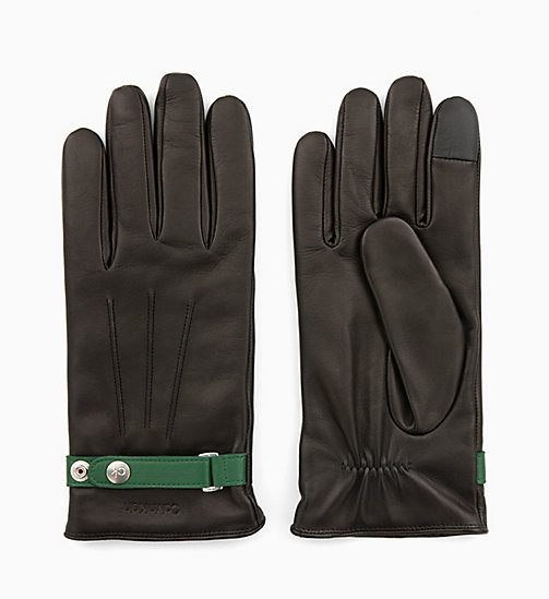 CALVINKLEIN Leather Gloves Gift Box - BLACK - CALVIN KLEIN GLOVES - main image