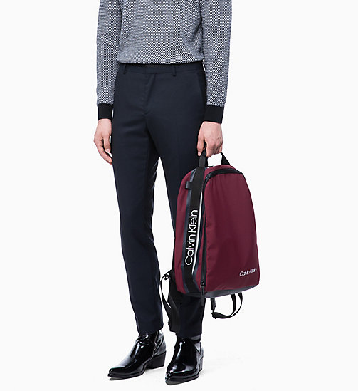CALVIN KLEIN Round Backpack - OX BLOOD - CALVIN KLEIN BACKPACKS - detail image 1