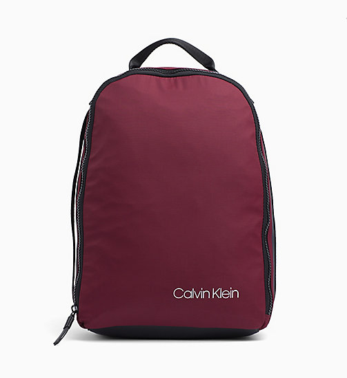 CALVIN KLEIN Round Backpack - OXBLOOD - CALVIN KLEIN NEW IN - main image