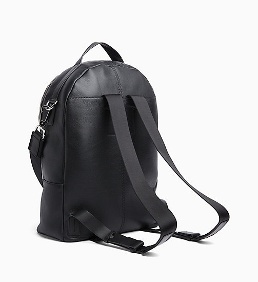 CALVINKLEIN Multi Strap Leather Backpack - BLACK - CALVIN KLEIN BACKPACKS - detail image 1