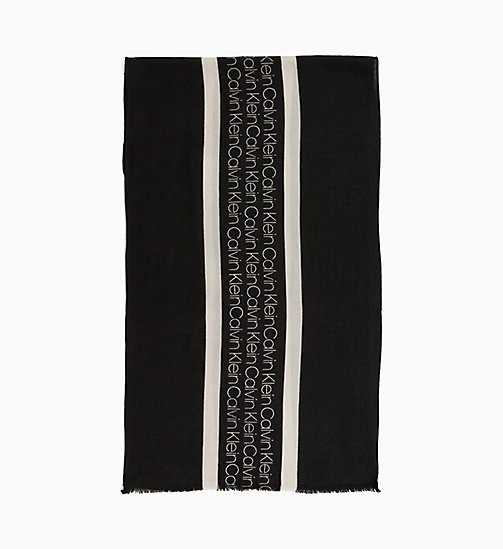 CALVIN KLEIN Wool Scarf - BLACK - CALVIN KLEIN NEW IN - main image