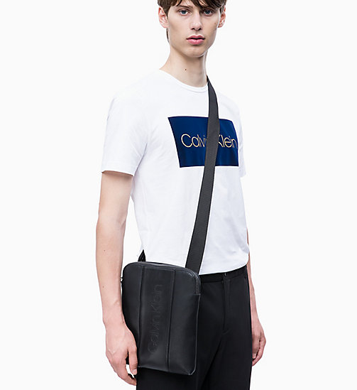 CALVIN KLEIN Flat Cross Body Bag - BLACK - CALVIN KLEIN NEW IN - detail image 1
