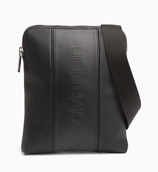 CALVINKLEIN Flat Cross Body Bag - BLACK - CALVIN KLEIN NEW IN - main image