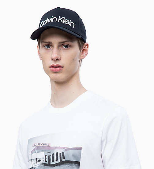CALVINKLEIN Cotton Twill Cap - BLACK - CALVIN KLEIN HATS - main image