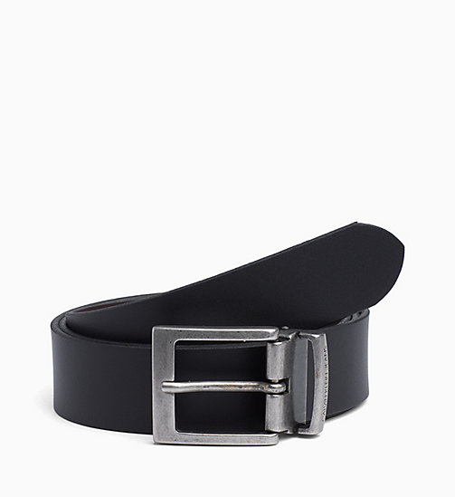 CALVIN KLEIN JEANS Reversible Leather Belt - BLACK/D.BROWN - CALVIN KLEIN JEANS BELTS - main image
