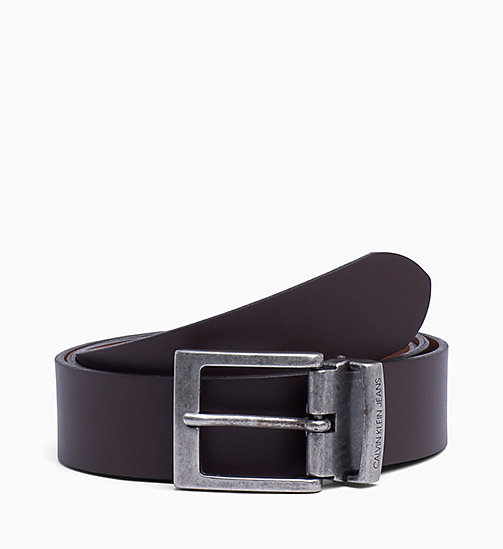 CALVIN KLEIN JEANS Reversible Leather Belt - D.BROWN/COGNAC - CALVIN KLEIN JEANS BELTS - main image
