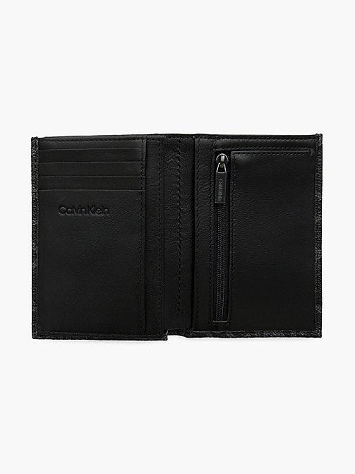 ... CALVIN KLEIN Portefeuille français avec logo - BLACK - CALVIN KLEIN  PORTEFEUILLES   PETITS ACCESSOIRES - aebfe955773