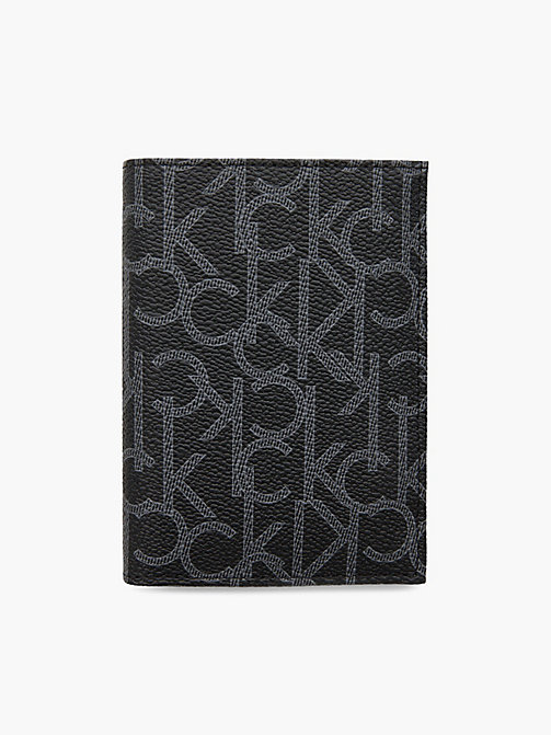CALVIN KLEIN Logo French Wallet - BLACK - CALVIN KLEIN LOGO SHOP - main image