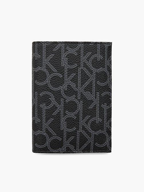 a37817ba1e4d CALVIN KLEIN Portefeuille français avec logo - BLACK - CALVIN KLEIN  PORTEFEUILLES   PETITS ACCESSOIRES ...