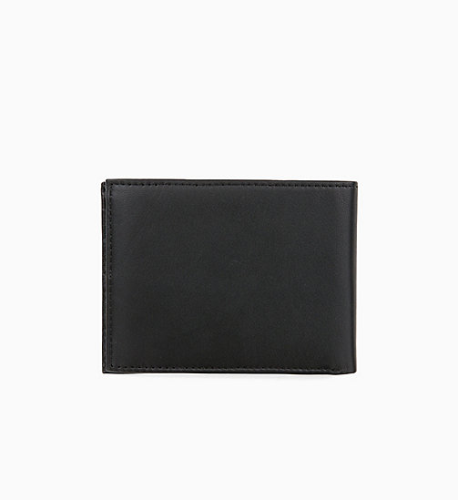 CALVINKLEIN Leather Wallet - BLACK -  WALLETS & SMALL ACCESSORIES - detail image 1
