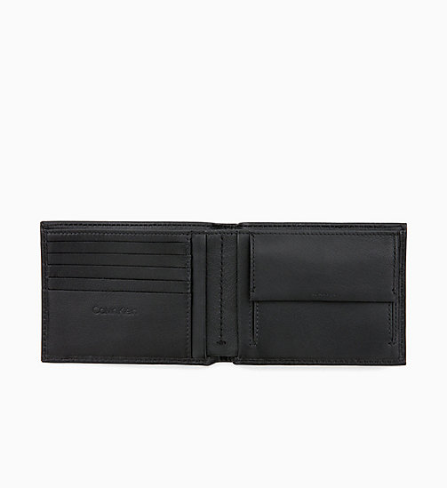 CALVIN KLEIN Leather Wallet - BLACK - CALVIN KLEIN FOR HIM - detail image 1
