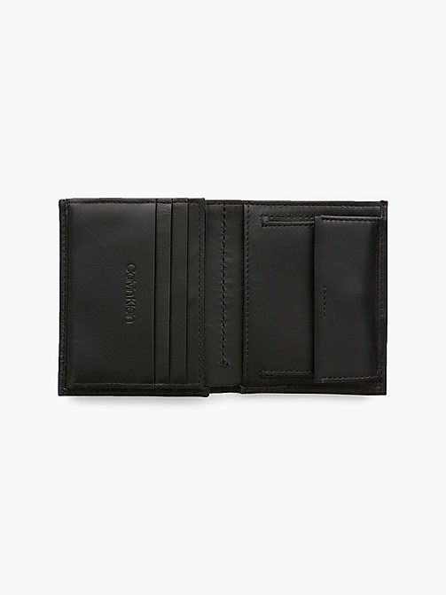 CALVIN KLEIN Mini Leather Wallet - BLACK - CALVIN KLEIN FOR HIM - detail image 1