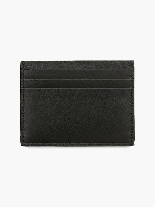 CALVIN KLEIN Leather Cardholder - BLACK - CALVIN KLEIN WALLETS & SMALL ACCESSORIES - detail image 1
