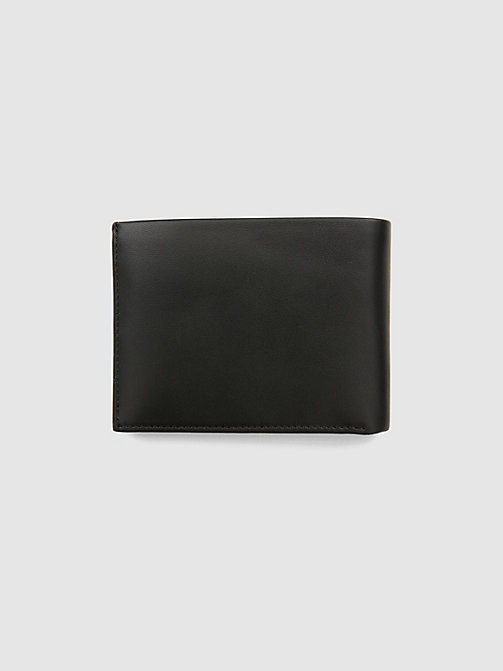 CALVINKLEIN Leather Plaque Wallet - BLACK - CALVIN KLEIN WALLETS & SMALL ACCESSORIES - detail image 1