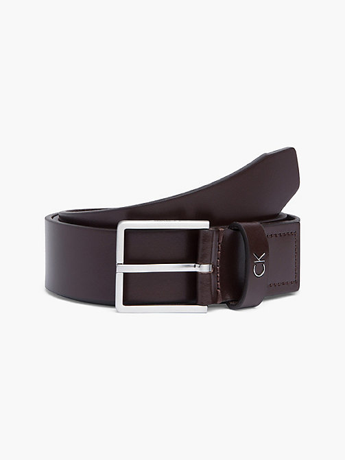 CALVIN KLEIN Leather Belt - TURKISH COFFE - CALVIN KLEIN BELTS - main image