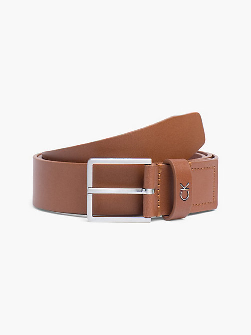 CALVIN KLEIN Leather Belt - COGNAC - CALVIN KLEIN BELTS - main image