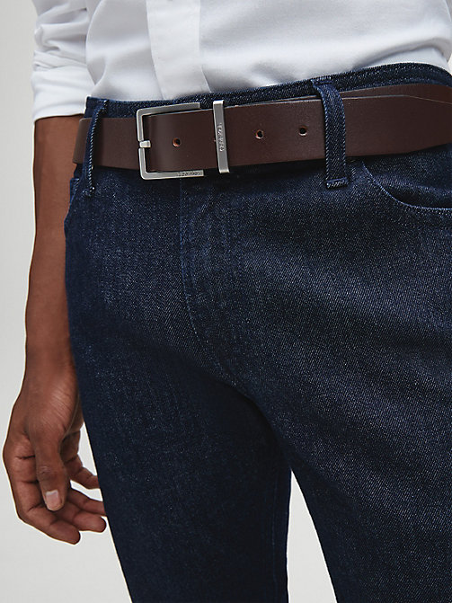 CALVIN KLEIN Leather Belt - TURKISH COFFE - CALVIN KLEIN BELTS - detail image 1