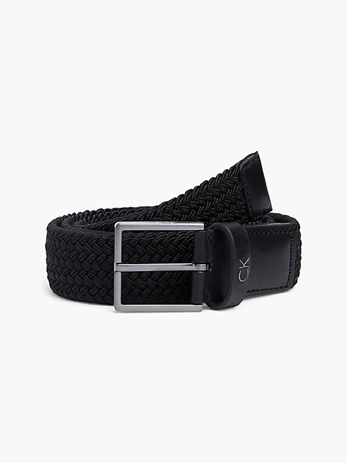 CALVIN KLEIN FORMAL ELASTIC BELT 3.5CM - BLACK - CALVIN KLEIN ALL GIFTS - main image